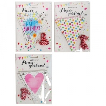 Party Girlande in 3 Designs