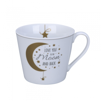 "Happy Cup ""I love you to the moon and back"" von Krasilnikoff"