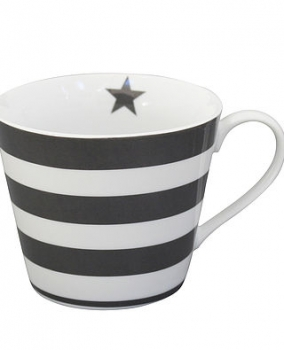 Happy Cupp striped charcoal von Krasilnikoff
