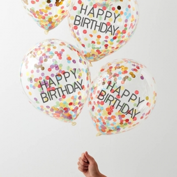 Balloons Confetti Happy Birthday